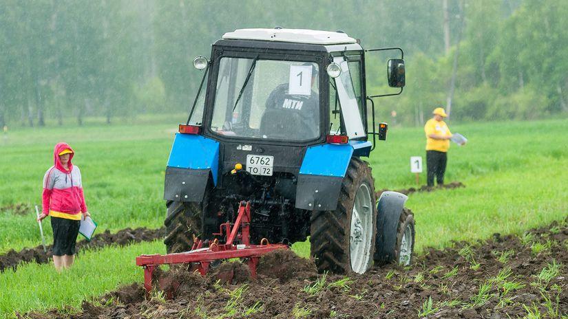 traktor, oranie, pôda