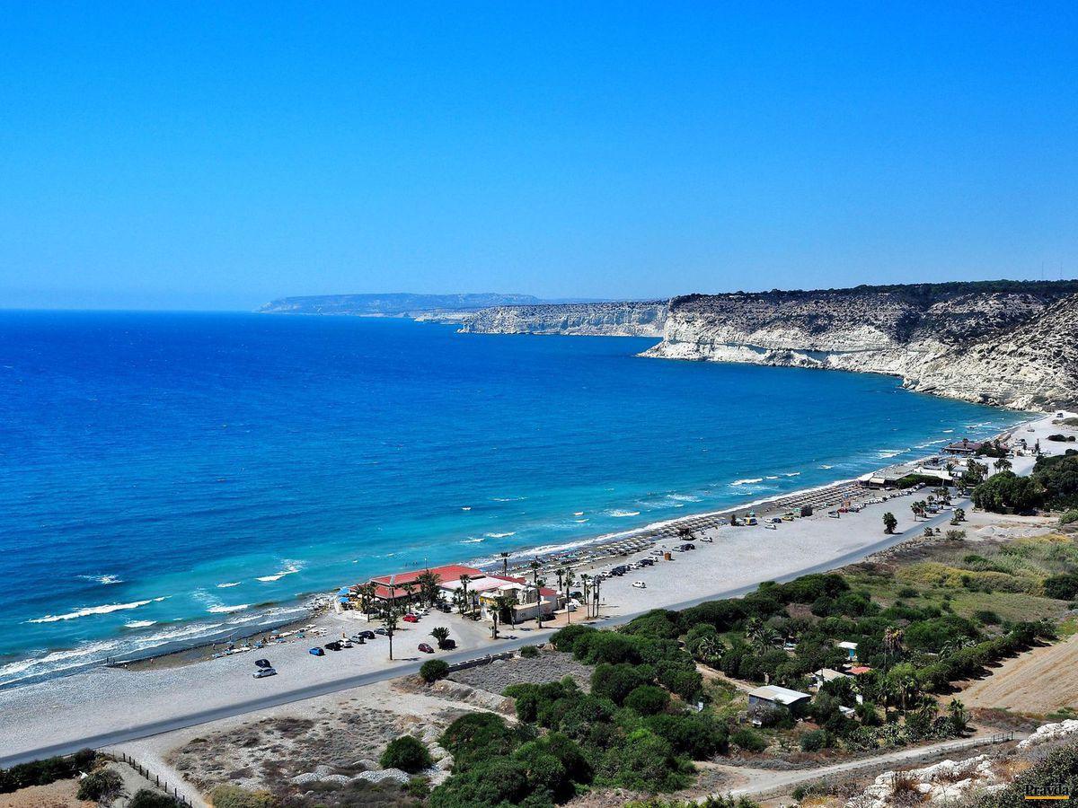 Cyprus, more, pláž