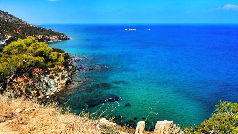 Cyprus, more, pláž, leto, dovolenka, cestovanie