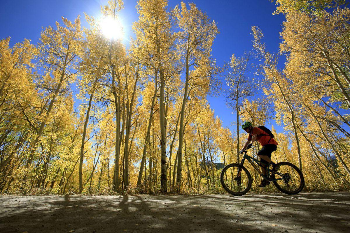 Colorado, jeseň, bicykel