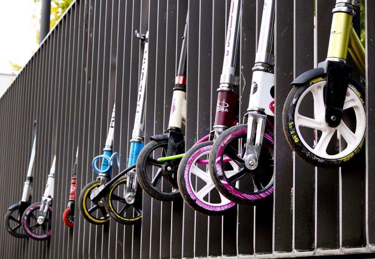 kolobežky, kolesá, doprava