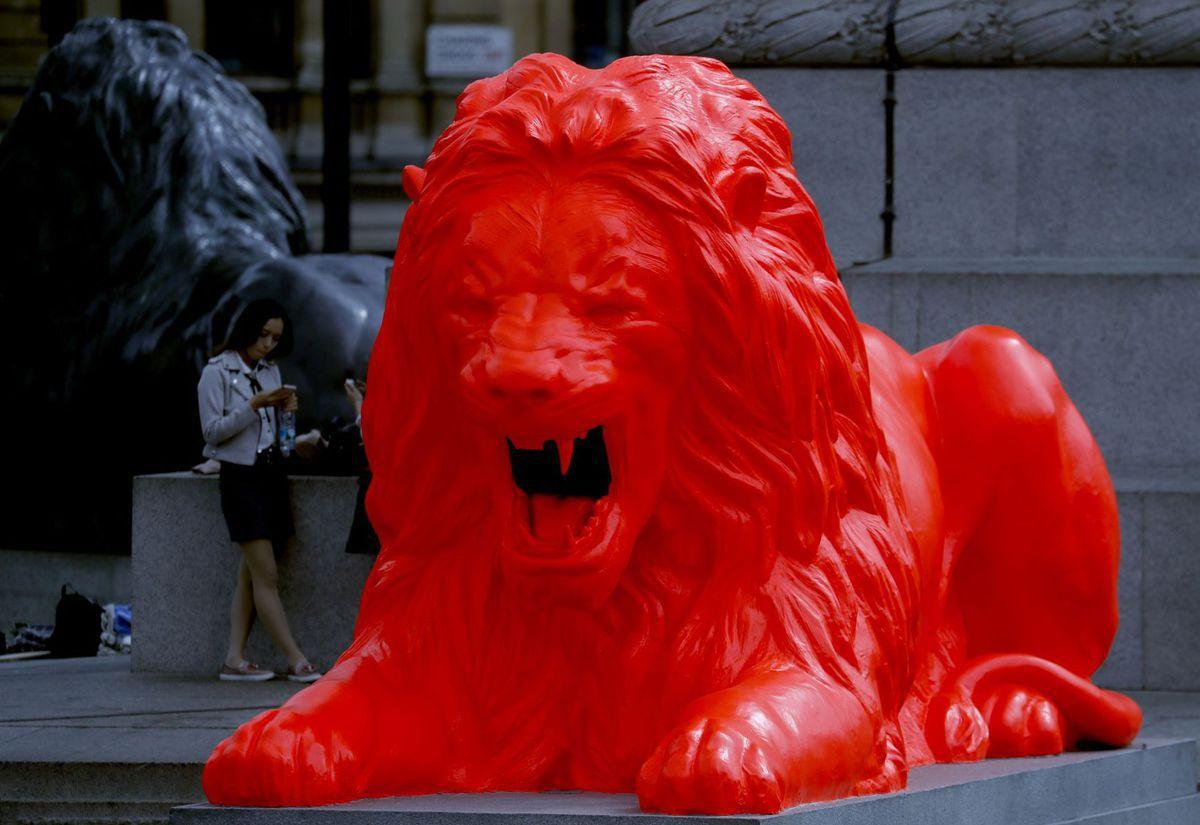 lev, socha, Británia