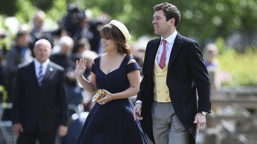 Princezná Eugenie a jej partner Jack Brooksbank...