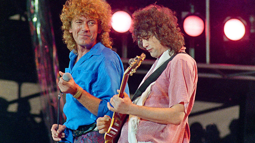 Robert Plant Jimmy Page Led Zeppelin