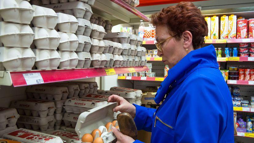 vajcia, supermarket, nákup