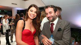 IMG Riaditeľka Miss Slovensko Karolína Chomisteková (vľavo) a herec Vladimír Kobielsky.