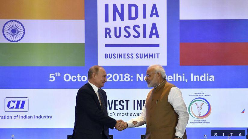 India Rusko zbrane obranná technika návšteva