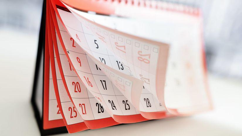 kalendár, čas, dni