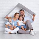 rodina, domov, strecha, dom, bývanie