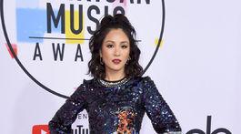 Herečka Constance Wu v šatách značky No.21.