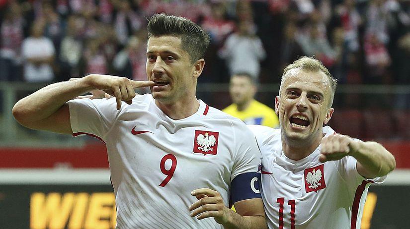 Robert Lewandowski a Kamil Grosicki