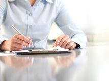 zmluva, podpis, poznámky, muž