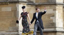 Britský spevák a skladateľ James Blunt a jeho manželka Sofia Wellesley.