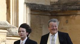 Herec a spisovateľ Stephen Fry (vpravo) a jeho manžel Elliott Spencer.