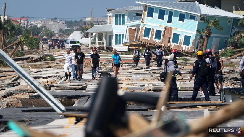 hurikán, michael, spúšť, trosky, dom, ulica,...