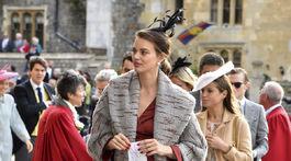 Britain Royal Modelka Rianne ten Haken prichádza na svadbu princeznej Eugenie vo Windsore.