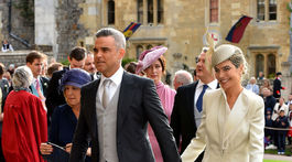 Spevák Robbie Williams a jeho manželka Ayda Field.