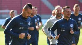 SR futbal LN Slovensko Česko tréning TTX