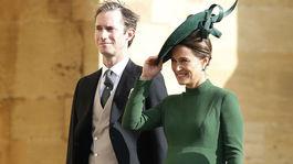 Tehotná Pippa Matthews Middleton a jej manžel James Matthews.
