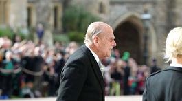 Vojvoda z Edinburghu, manžel kráľovnej Alžbety II. prichádza na svadbu svojej vnučky Eugenie.