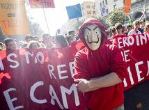 Študenti, protest, demonštrácia, školstvo, taliansko, pochod