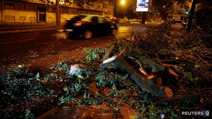 portugalsko, cyklón, hurikán, leslie, vietor,...