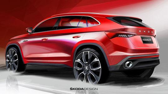 Škoda Kodiaq GT: Prvé skice sú tu. Európanom zatiaľ nepomôžu