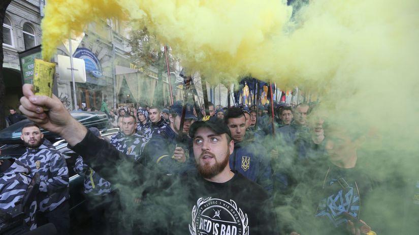 Ukrajina nacionalisti radikáli pochod kyjev