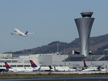 letisko, lietadlo, odlet, vzlet, štart, veža, san francisco