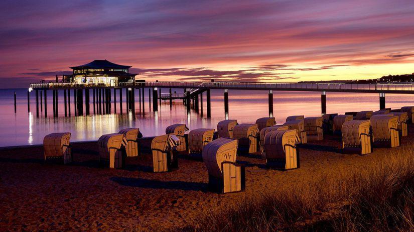 Nemecko, pláž, Baltské more, dovolenka,...