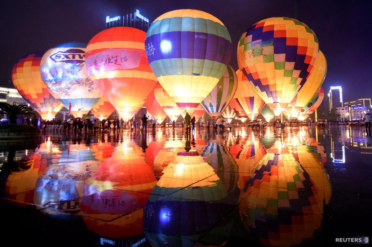 teplovzdušné balóny, Čína