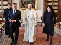 Mun Če-in, pápež František