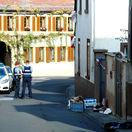 nemecko, streľba, polícia, forenzný vyšetrovateľ, expert, ulica, miesto činu