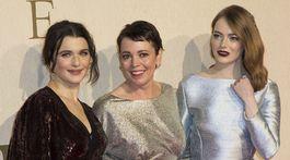 Rachel Weisz, Olivia Colman a Emma Stone