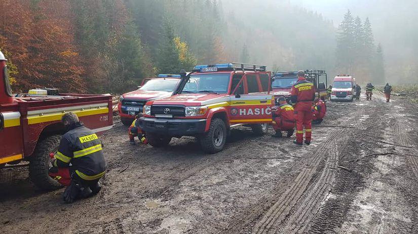 hasiči, gaderská dolina