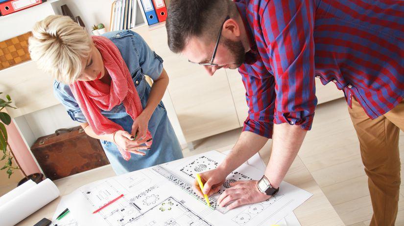 architekt, pôdorys, plán domu, kataster,...