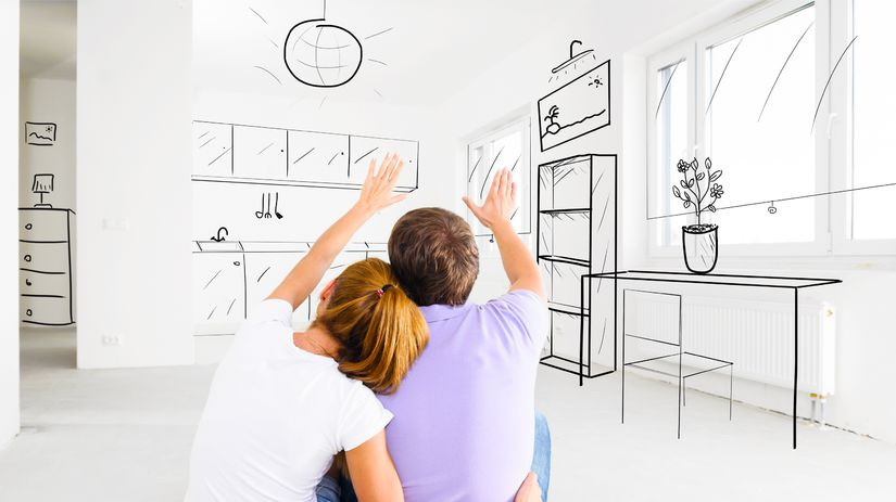 bývanie, plánovanie bývania, mladý pár, hypotéka