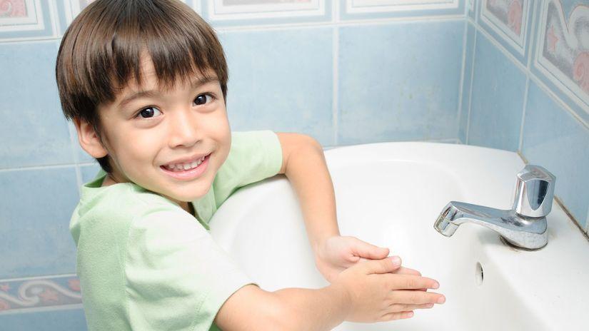 dieťa, ruky, hygiena, umývanie rúk