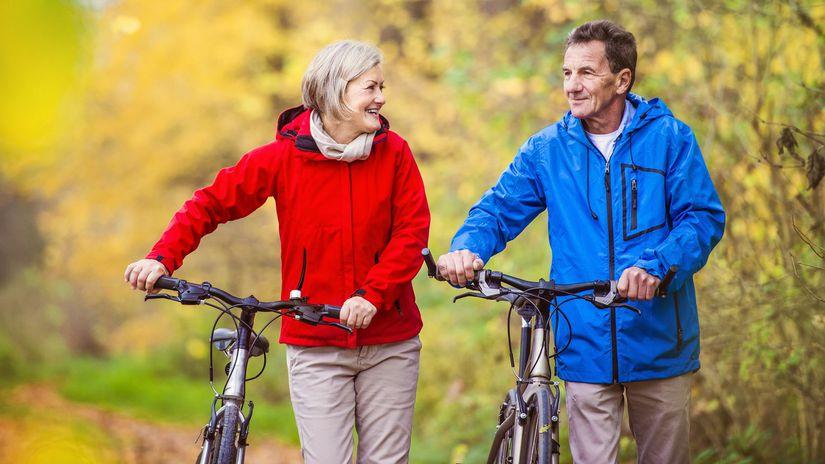 Seniori bicykel mensi