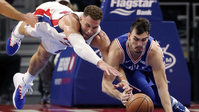 APTOPIX 76ers Pistons Basketball NBA