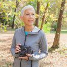 fotoaparát, seniori, dôchodca, fotograf