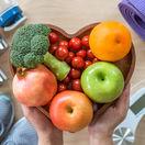 srdce, obezita, zdravá výživa, zelenina, ovocie, cvičenie