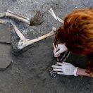 Taliansko Pompeje vykopávky kostry Vezuv