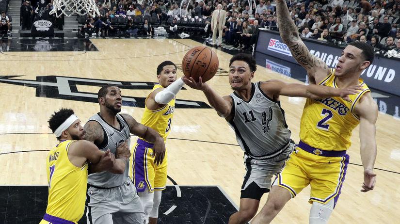 Lakers Spurs Basketball NBA