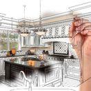 bývanie, byt, dom, návrh, kuchyňa