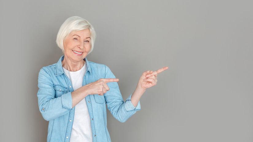 dôchodkyňa, dôchodok, senior