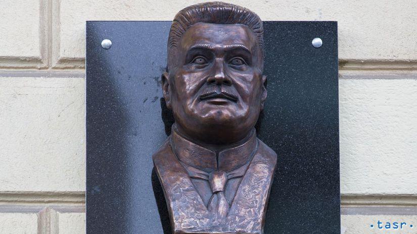 Samuel Zoch busta tabula SR ČSR