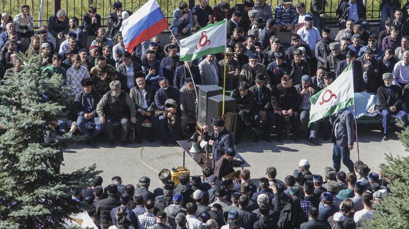 rusko, ingušsko, protest, čečensko