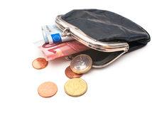 peňaženka, peniaze, eurá