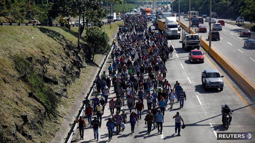 USA Salvador migranti karavána ľudia